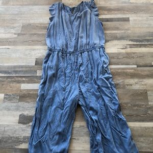 Brand new never worn chambray jumpsuit